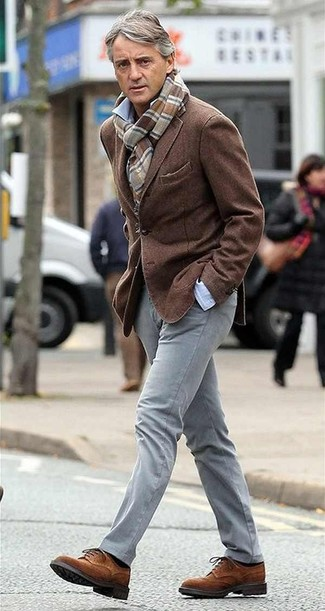 Blazer chemise a manches longues pantalon chino large 13660