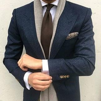 Blazer en laine bleu marine Scotch & Soda