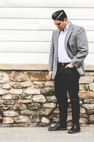 Un Chaussures Des Avec Brogues Blazer Noires Cuir En Comment Porter Yybgf76
