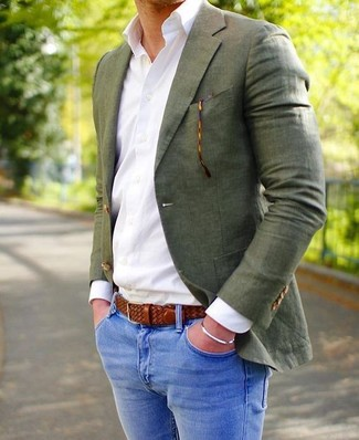Blazer olive Harris Tweed