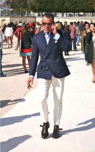 Blazer chemise de ville pantalon chino bottines chukka  large 267