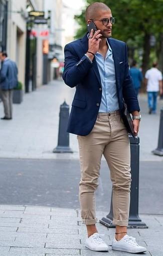 Chemise de ville bleu clair Calvin Klein