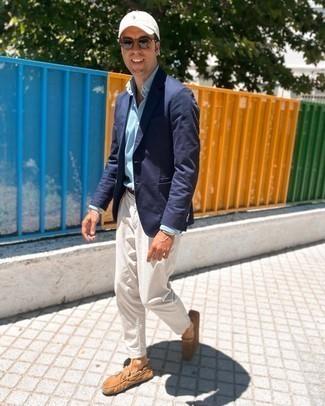 Chemise de ville en chambray bleu clair GANT RUGGER
