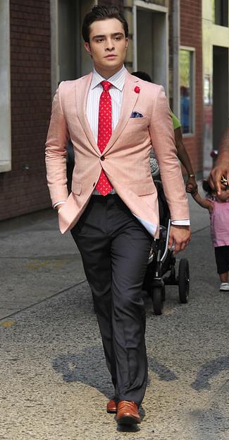 Blazer chemise de ville pantalon de costume chaussures brogues cravate  large 993