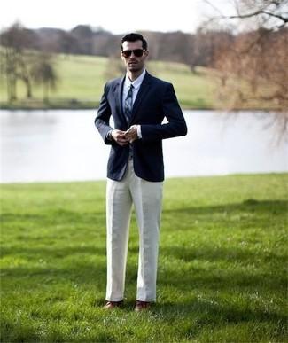 Blazer chemise de ville pantalon de costume chaussures derby cravate large 2360