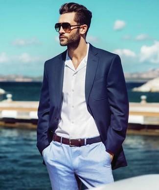 Blazer bleu marine Strellson Premium