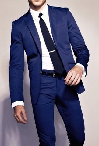 mieux aimé 3df8d 17c8e Tenue: Blazer bleu marine, Chemise de ville blanche ...