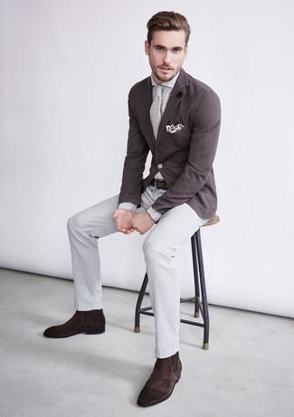 Pochette de costume blanche DSQUARED2