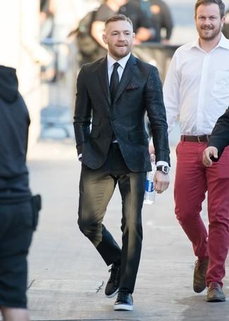 Cravate noire DSQUARED2