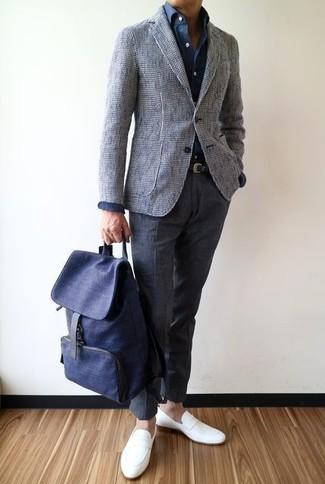 Pantalon de costume en laine gris foncé J.Crew