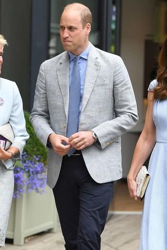 Cravate bleu clair Dunhill