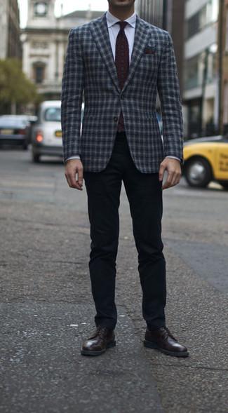 Chaussures derby en cuir bordeaux Paul Smith