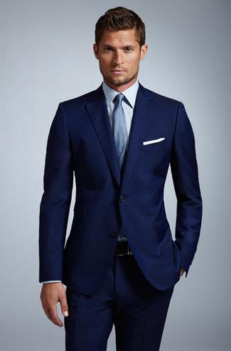 Costume homme noir chemise bleu - Costume ddf981eb4e7
