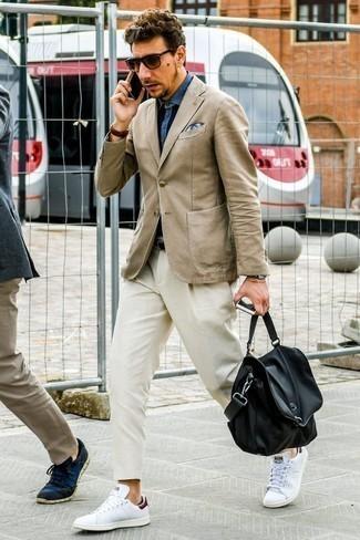 Baskets basses en cuir blanches Alexander Laude