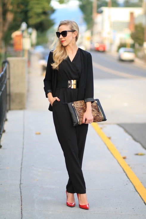 Noire16 Pantalon Un Combinaison Avec Une Porter Blazer À Tenues xedCBWEroQ