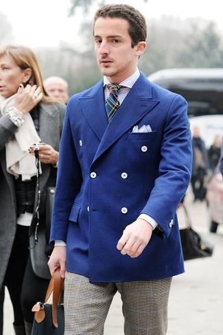 Chemise de ville à rayures verticales bleu clair Dnl