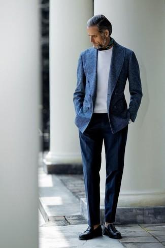 Pantalon de costume bleu marine Gabicci Vintage