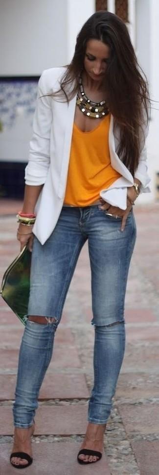 8394f18c56afe Comment porter un débardeur orange (17 tenues)