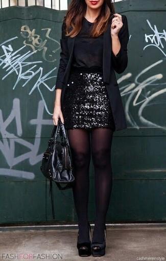 Blazer noir PrettyLittleThing Plus