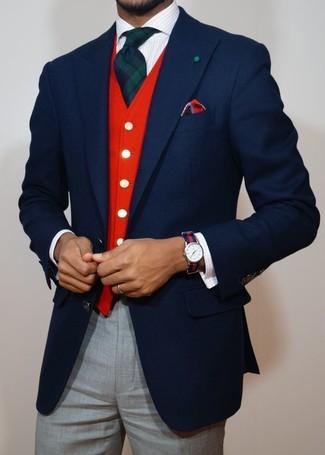 Blazer en laine bleu marine Gucci