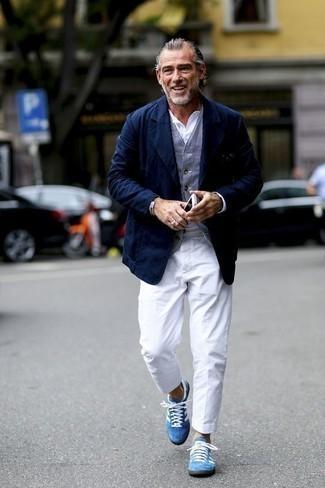 Pantalon chino blanc Boss Orange