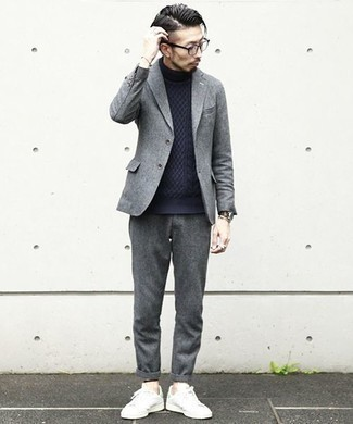 Pantalon chino en laine gris Minimum