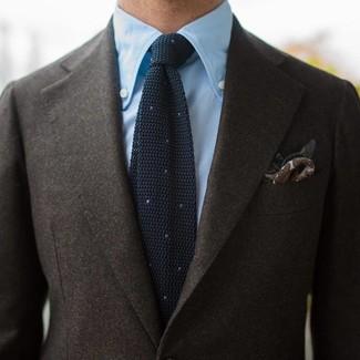 0ea5380818fa5 Cravate en tricot noire Burberry, €173 | MR PORTER | Lookastic France