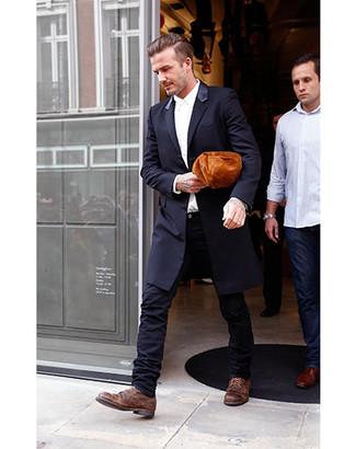 Chaussures derby en cuir marron The Last Conspiracy