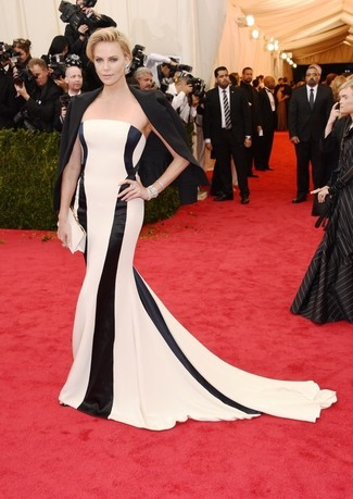 Blazer noir robe de soiree a rayures verticales pochette en satin large 2265