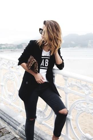Blazer noir Y.a.s