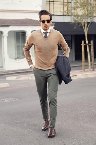 Pull marron clair Hackett London