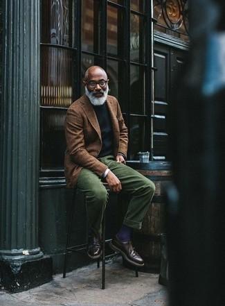 Chaussures derby en cuir marron foncé ASOS DESIGN