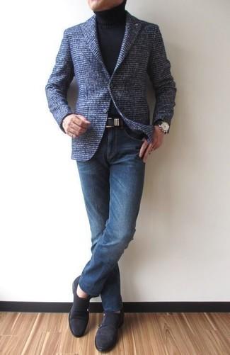 Blazer en laine bleu marine Farah Smart