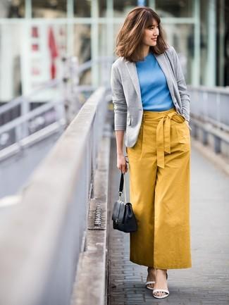 efbfe329f Comment porter un pantalon large moutarde (35 tenues) | Mode femmes ...