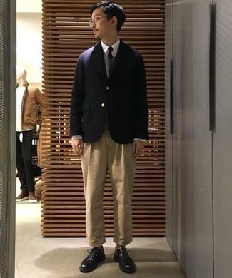 Chaussures derby en cuir noires Marsèll