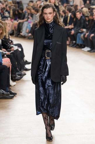 Gants noirs Valentino