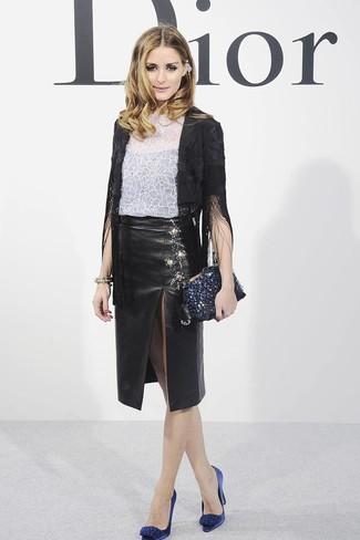 aefd812e27fa Comment porter une jupe en cuir (464 tenues)