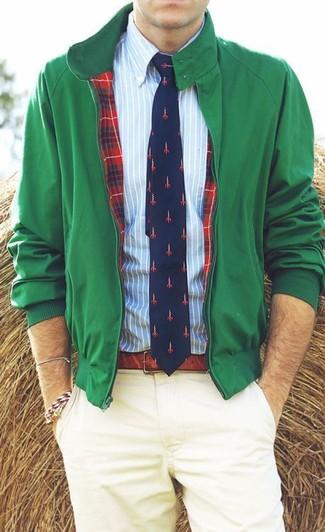 Blouson aviateur vert