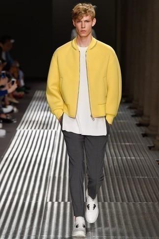 Blouson aviateur jaune Ben Sherman