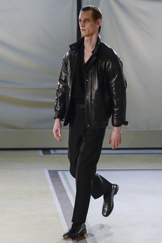 Pantalon de costume noir Baumler