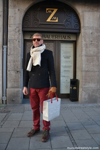 Pantalon chino bordeaux Merc of London