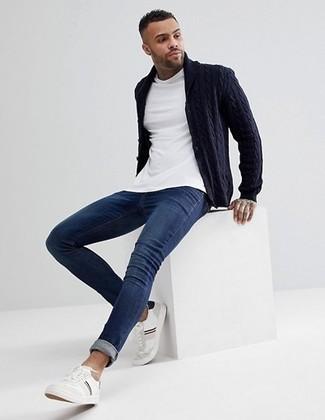 Jean skinny bleu marine Threadbare