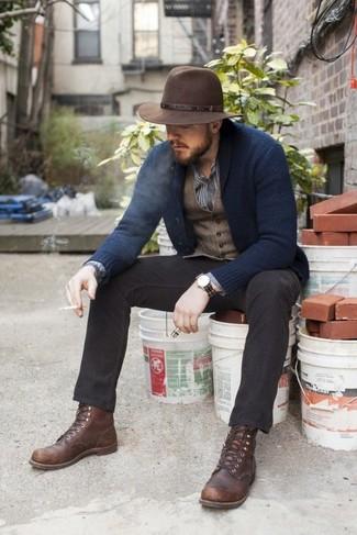 Chapeau en laine marron Diesel