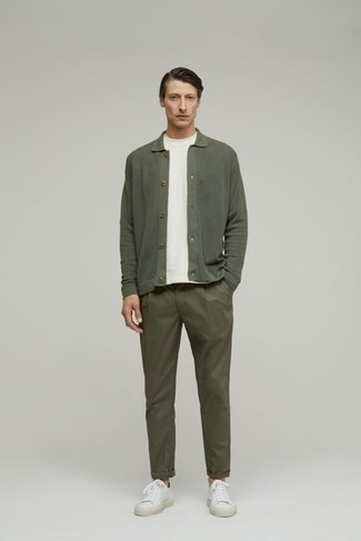 Pull olive Calvin Klein