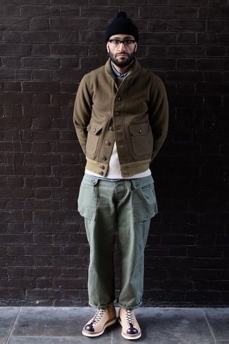 Pull à col rond beige Dockers