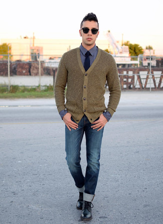 Cardigan olive Weekday