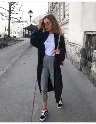 Pantalon slim en laine gris