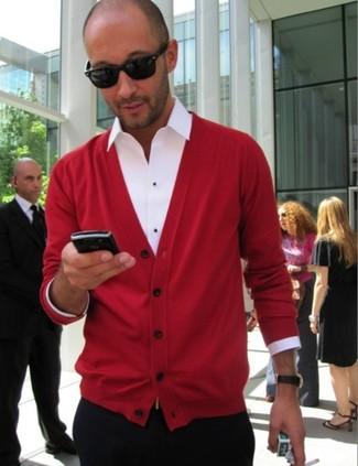 Cardigan rouge Maerz