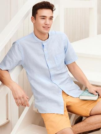 Chemise à manches courtes bleu clair Seidensticker