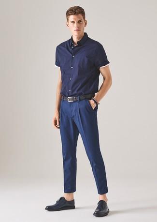 Chemise à manches courtes bleue marine Hope'N Life